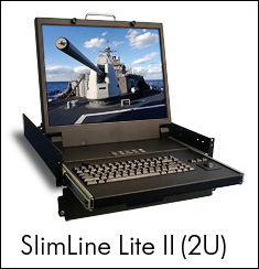 Photo of SlimLine Lite II flip-up LCD monitor
