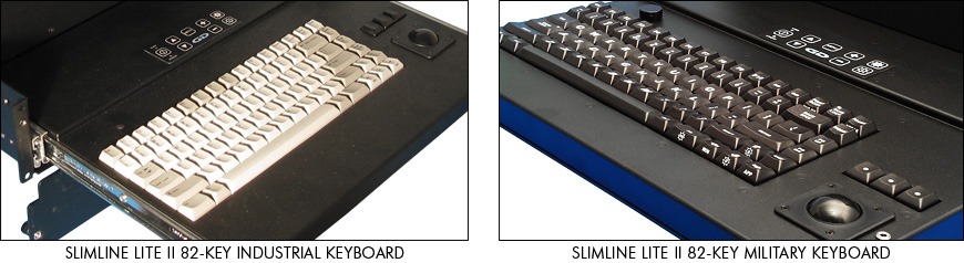 SlimLine Lite II industrial-grade and military-grade keyboards
