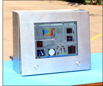 15 inch NEMA4X Sunlight Readable LCD Monitor in Stainless Steel Enclosure