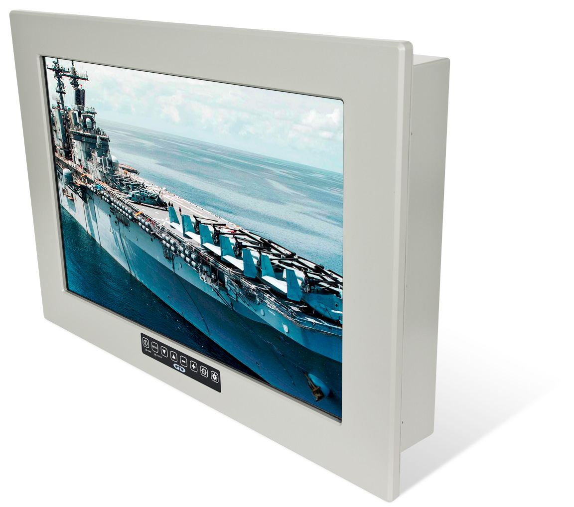 24 inch Panel Mount Mil-Spec LCD Monitor