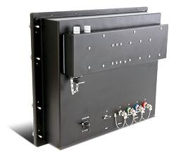 19 inch Rack Mount Mil Spec LCD Monitor Rear View