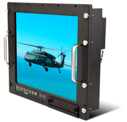 19 inch Rack Mount Mil Spec LCD Monitor Front View