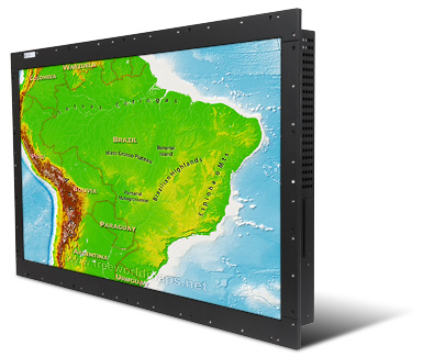 Titan PanelMount 39 inch rugged LCD monitor built for Brazilian Navy Submarines