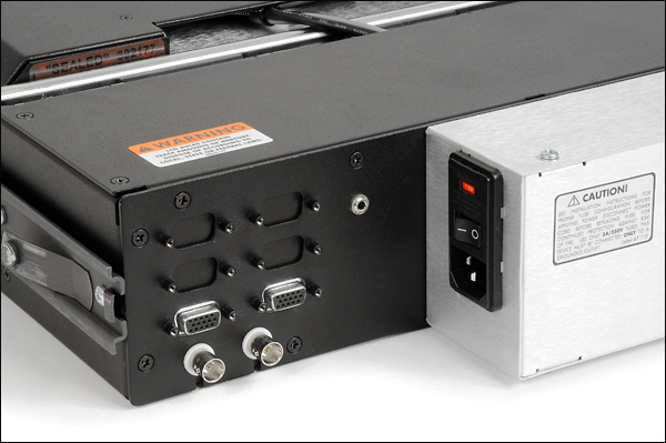 Photo of TwoView Micro power supply and connector panel