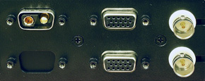 Close-up of connectors