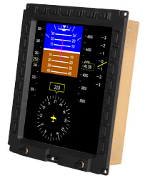 VueSim HMI flight simulation cockpit display