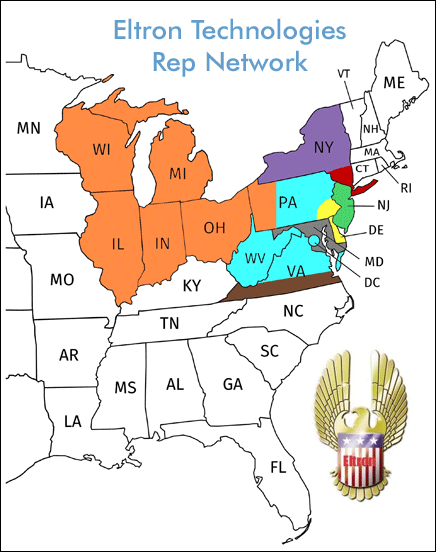 Eltron Technologies Rep Network Map